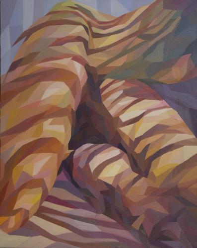 《窗影》布面油画100x80cm 2014