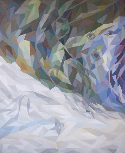 《风暴 左》布面油画180x150cm 2014