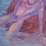 《和水交谈》布面油画100x80cm 2014