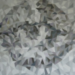 《记忆之外一5呼唤》布面油画100x100cm 2014