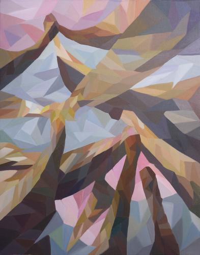 《接吻的船头》布面油画100x80cm 2014