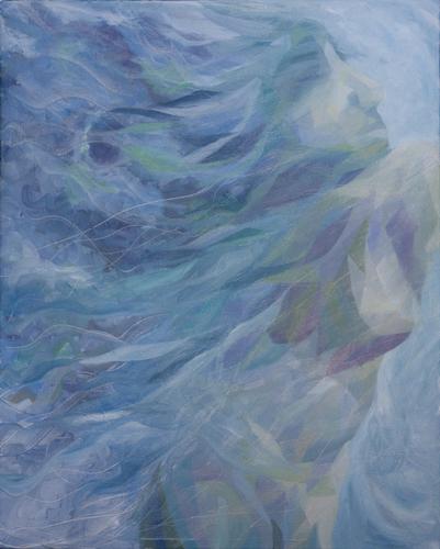 《时光之水》布面油画100x80cm 2014