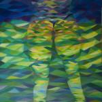 《炫耀的夏夜1》布面油画120x90cm 2014