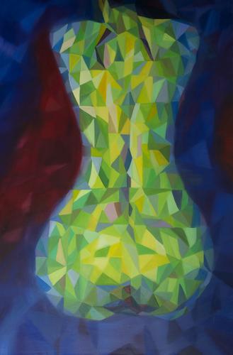 《炫耀的夏夜2》布面油画120x80cm 2014