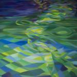 《炫耀的夏夜3》布面油画120x90cm 2014