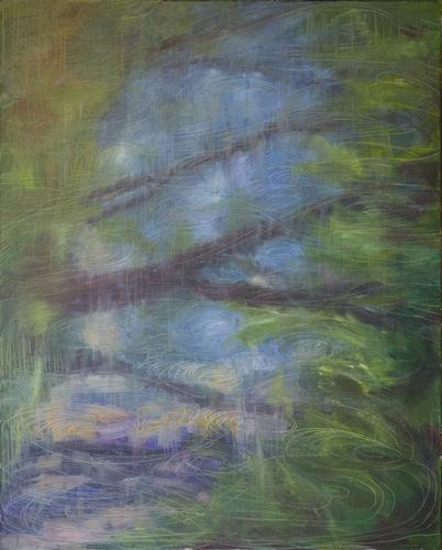 《影》布面油画100x80cm 2014