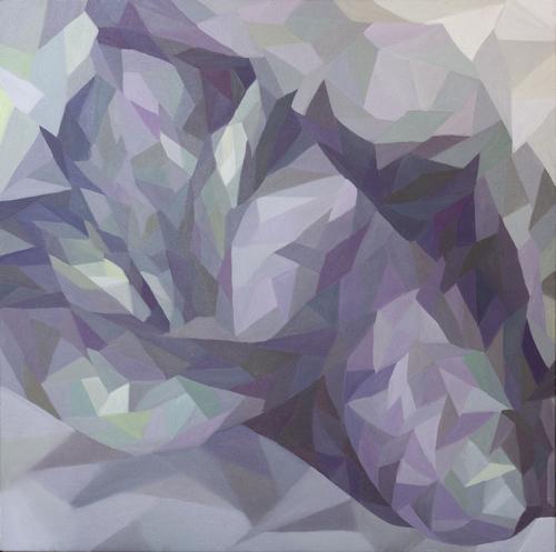 《锁骨》布面油画60x50cm 2014
