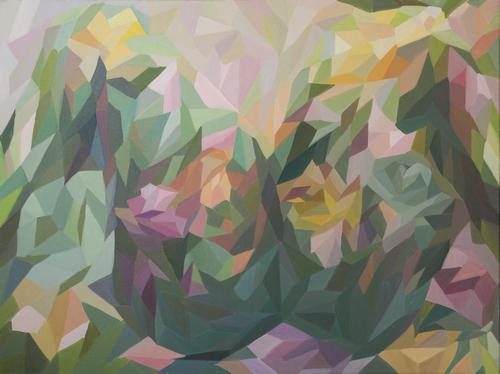 《一夜之间盛开的花朵》布面油画120x90cm 2014